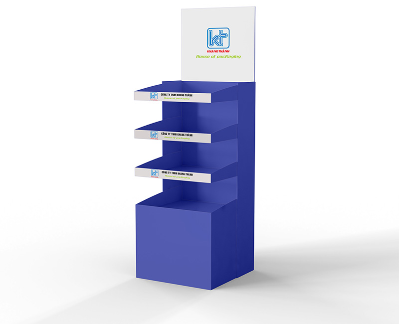 floor stand display Khang Thanh packaging company in Vietnam