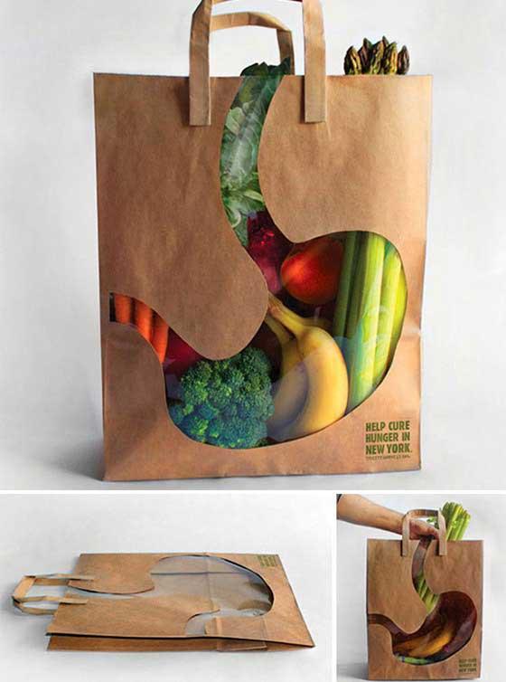 Túi giấy sáng tạo và độc đáo